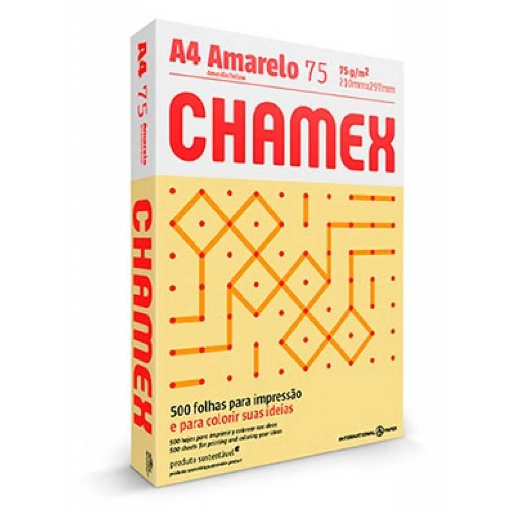 Papel para impresión Chamex unidad A4 500 hojas amarillo pastel resma