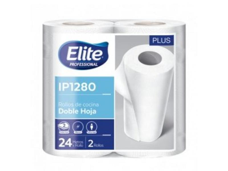 Toalla de papel Elite Paquete x 2 rollos 120 paños ip 1280 PACK