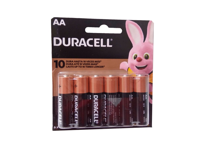 Pilas alcalinas Duracell x 6 unidades AA PACK