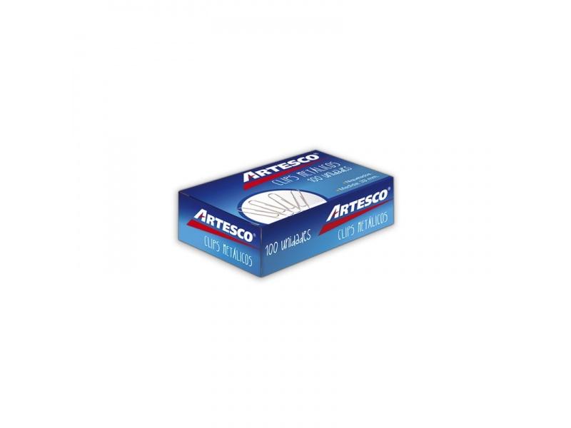 Clips metálicos Artesco caja x 100 33 mm colores