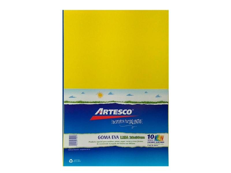 Goma Eva Lisa paquete x 10 A4 colores surtidos pack