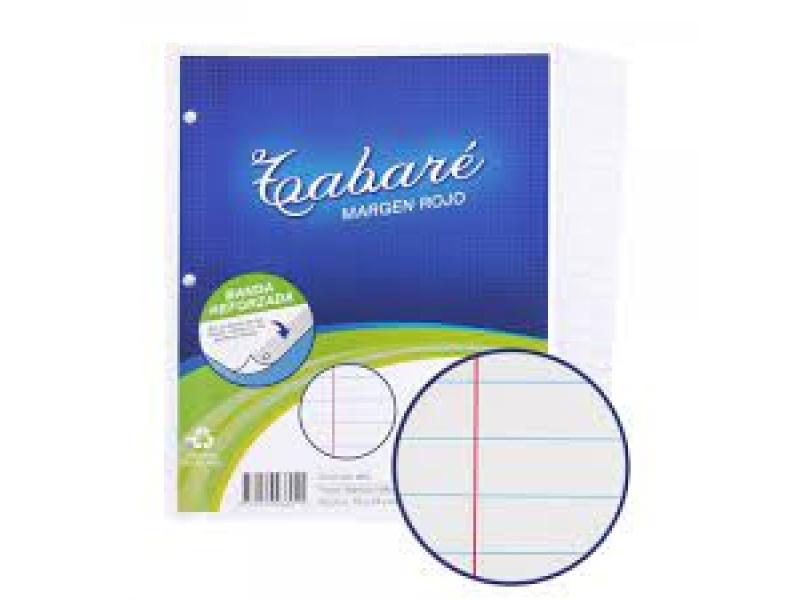 Hojas de deberes Tabare Paquete x 48 Margen Rojo PACK